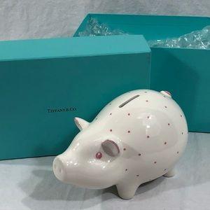 Tiffany & Co Little Girl Pink Polka Dot Piggy Bank